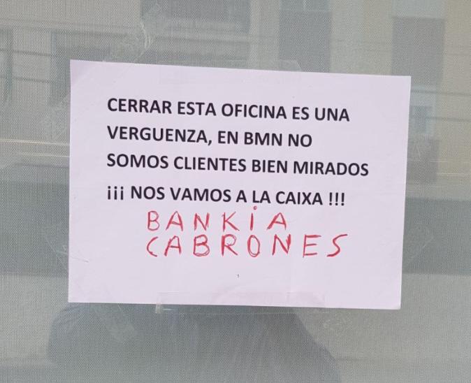 tancaments Bankia
